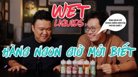 Đánh Giá Tinh Dầu Vape Mỹ Wet Eliquid Freebase và Saltnic