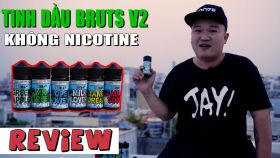 Tinh Dầu Vape Không Nicotine BRUTS V2 - Tinh Dầu Vape Dễ Hút Nhất