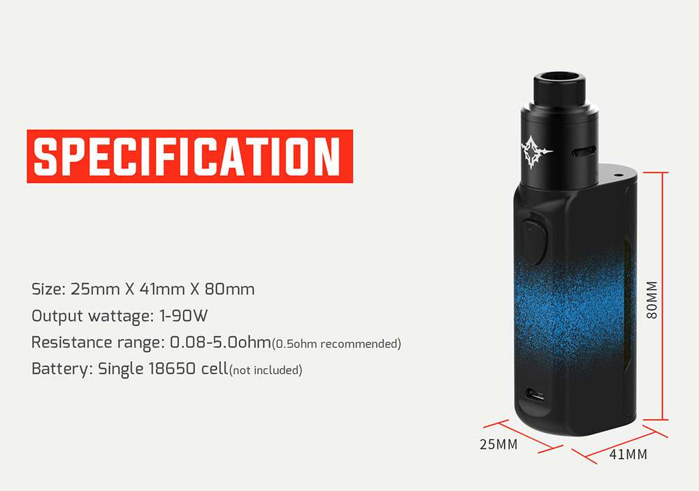 thong số vape manto kit mini