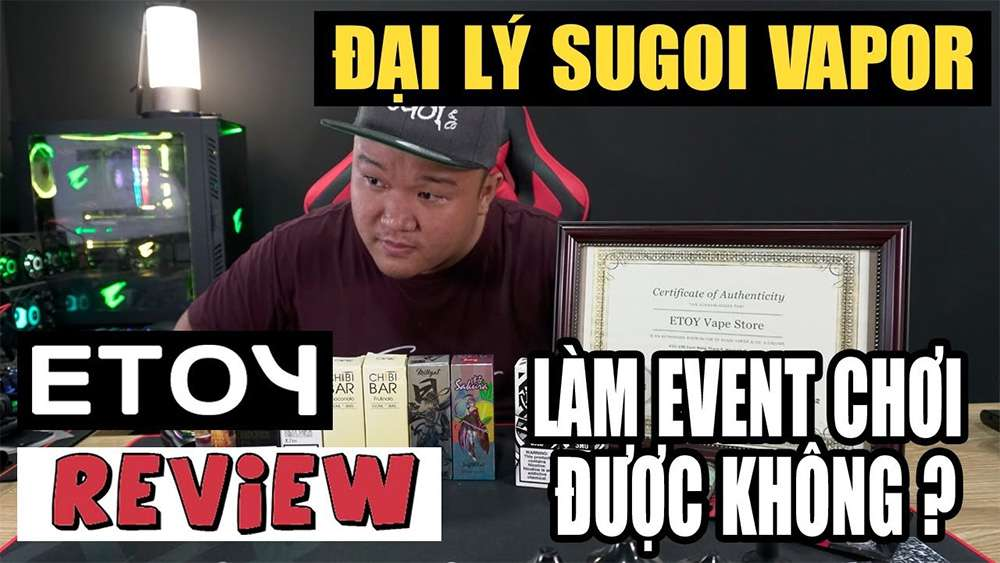 certificate from sugoi vapor viet nam