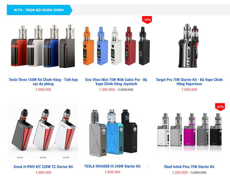 kit vape, vape chinh hang