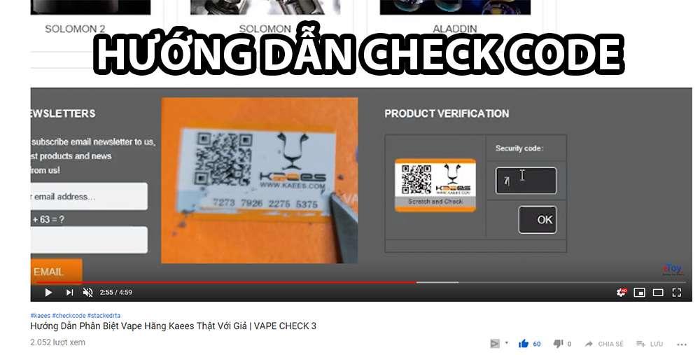 huong dan check code kaees vape