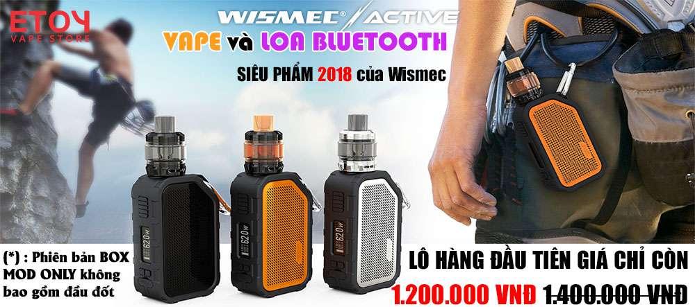 may vape wismec active loa bluetooth