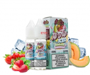 Hi Drip ICED Salt Honeydew Strawberry 30ml - Tinh Dầu Vape Mỹ