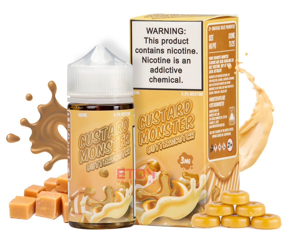 Custard Monster Butterscotch 100ml - Tinh Dầu Vape Mỹ