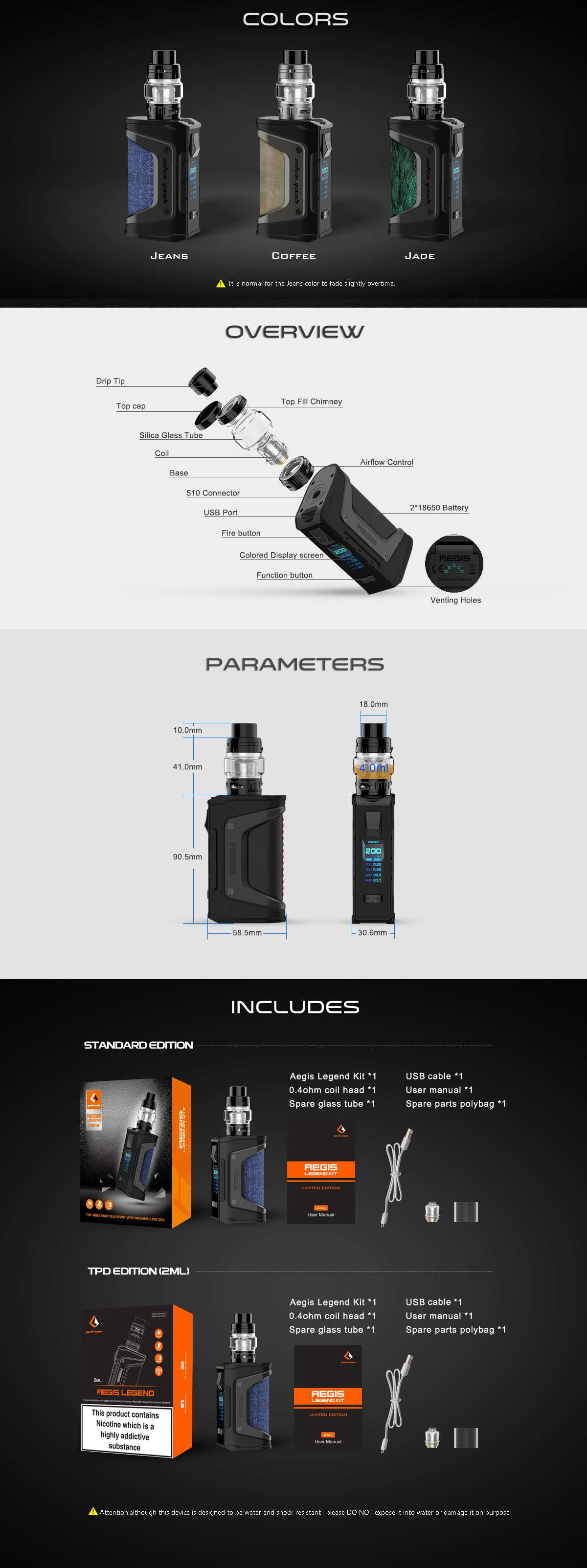 aegis legend kit 2019 mới vape