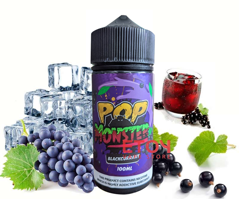 POP Monster Blackcurrant 100ml - Tinh Dầu Vape Malaysia