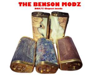 The Benson Modz DNA 75W Box Mod Stabilized Wood Cao Cấp