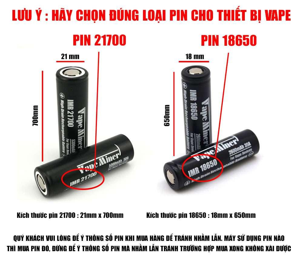 pin cho vape 21700