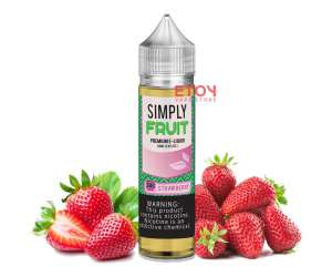 Simply Strawberry 60ml - Tinh Dầu Vape Mỹ