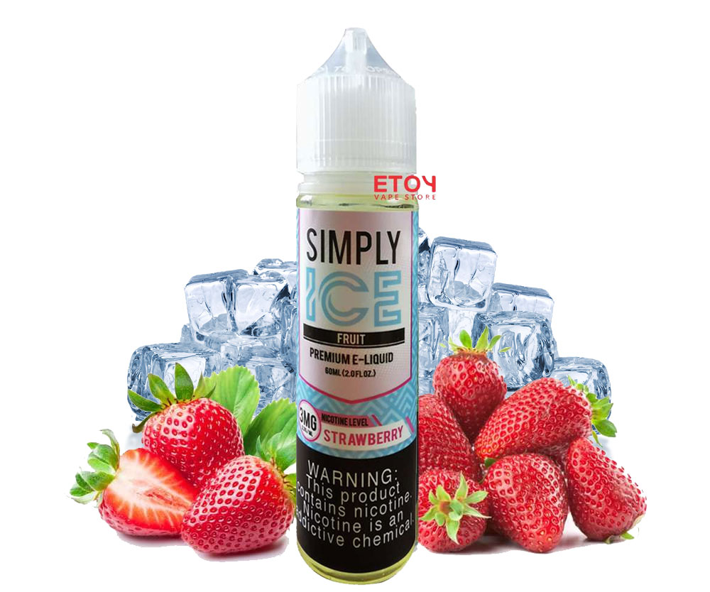 Simply Ice Strawberry 60ml - Tinh Dầu Vape Mỹ