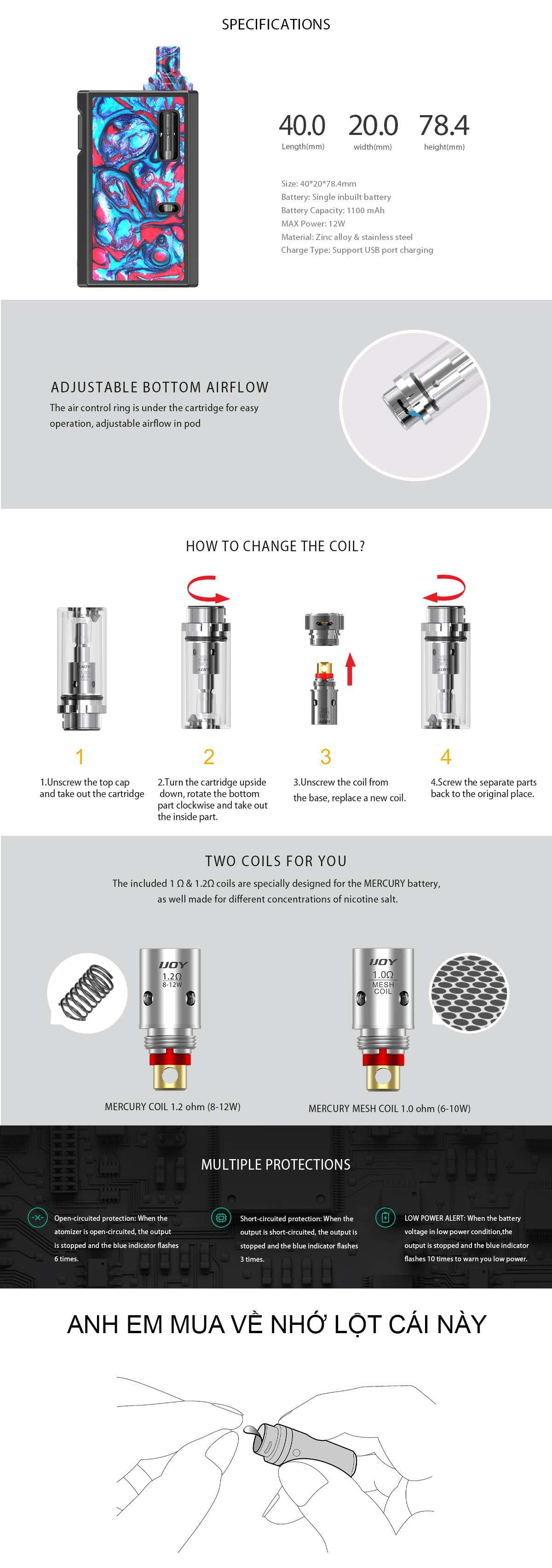 mercury kit vape